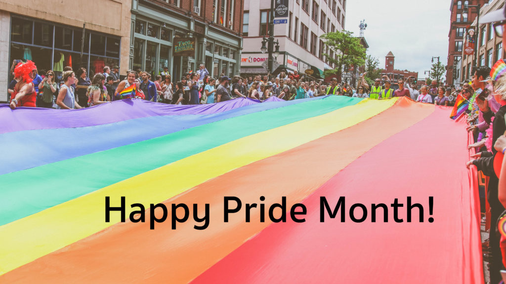 Happy Ride month rainbow flag